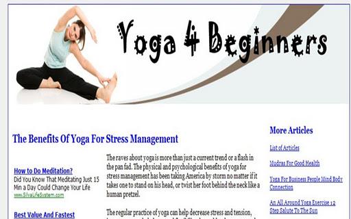 【免費健康App】Yoga 4 Beginners-APP點子