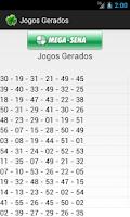 Screenshot of Gerador de jogos da loteria
