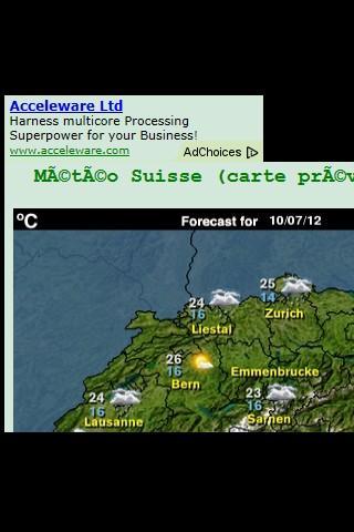 Météo App pour la Suisse