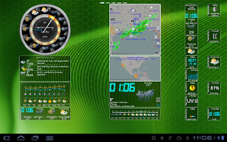 Screenshot of eWeatherHD, NOAA Radar, Alerts