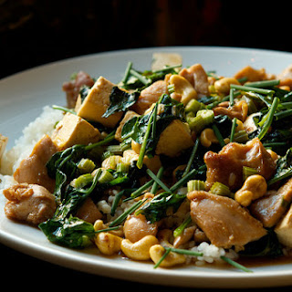 Chicken and Tofu with Celery and Cashews