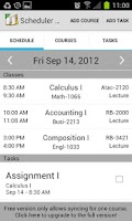Screenshot of School Scheduler