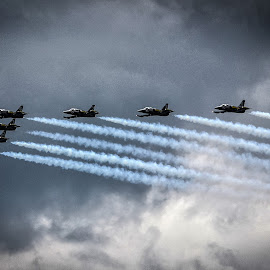 Jet set by Dimitris Stenidis - Novices Only Sports ( sky, breitling, greece, jet show, cloud, jets, smoke, floisvos, air show,  )