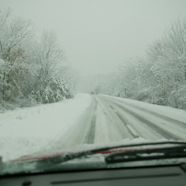 Slippery Hiway by Alec Halstead - News & Events Weather & Storms ( , snow, winter, cold )
