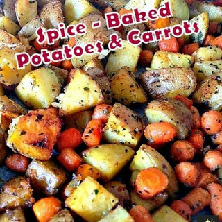 Spiced - Oven Baked Potatoes & Baby Carrots