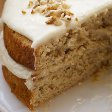 Pecan Layer Cake with Banana Icing
