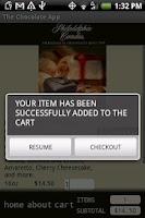 Screenshot of The Chocolate App