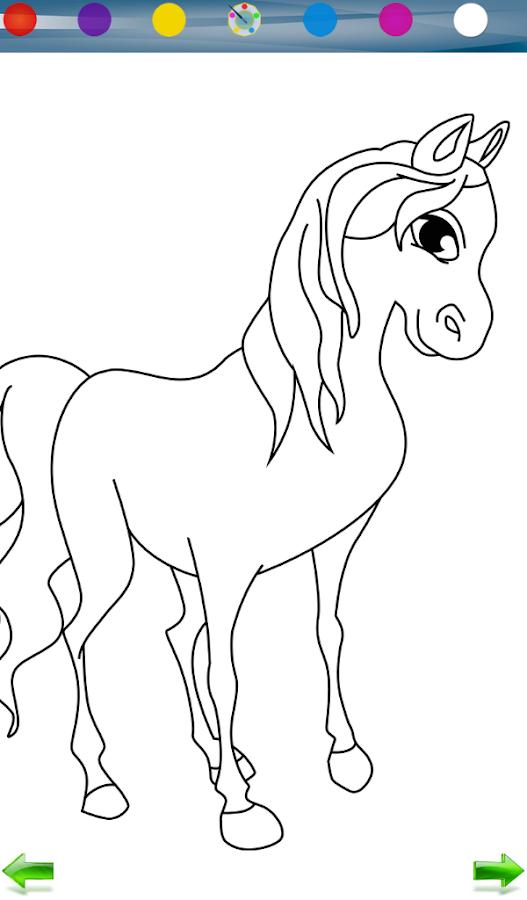 Играть в игру раскраска лошадь