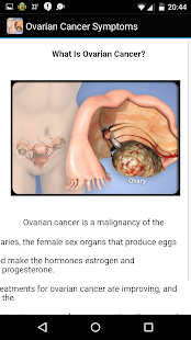 Ovarian Cancer Symptoms - screenshot