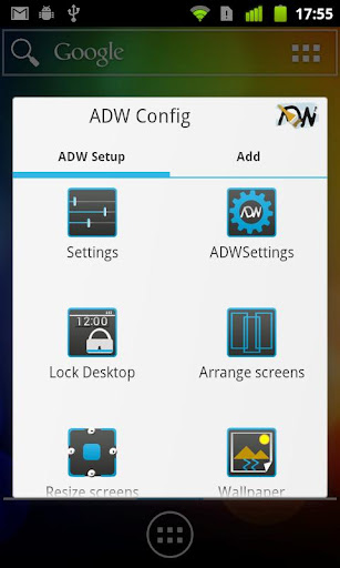 adw-launcher for android screenshot