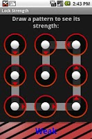 Screenshot of Lock Pattern Strength