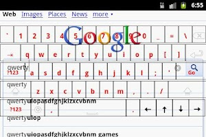 Screenshot of Transparent Keyboard