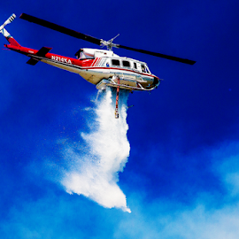 Water Drop by Ken Wade - News & Events Disasters ( helicopter, mt. pinos, forest fire, kern county, firefighters,  )