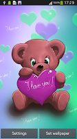 Screenshot of Live Wallpaper Teddy Bear