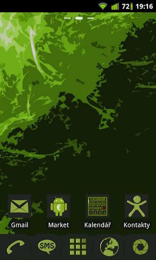 DarkGreen theme GO Launcher