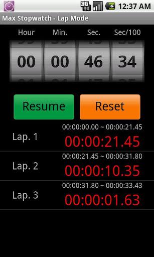 MAX 秒錶