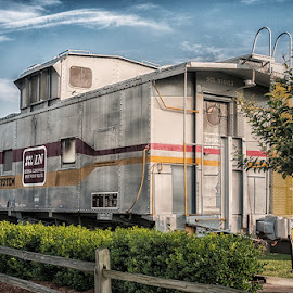 Angier Caboose, Angier, NC by Gini Farnham - Transportation Trains ( caboose, railway, railroad, depot, train,  )