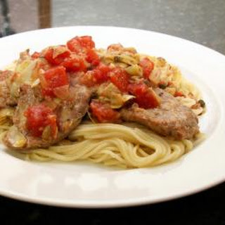 Veal Cutlets With Tomatoes and Capers