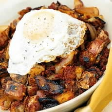 Corned-beef Hash with Fried Eggs