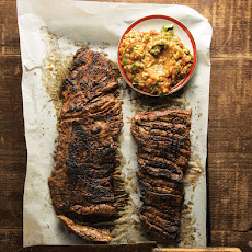 Grapefruit & Habanero Skirt Steak with Grilled Tomato Salsa