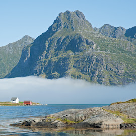 by Bente Agerup - Landscapes Mountains & Hills ( houses, mountains, lakes, lofoten, norway )
