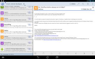Screenshot of Aqua Mail Pro Key