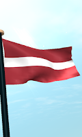 Screenshot of Latvia Flag 3D Free Wallpaper