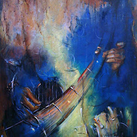Music in my Mind...4 by Sowmen Chanda - Painting All Painting
