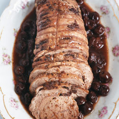 Roast Veal with Sour Cherries