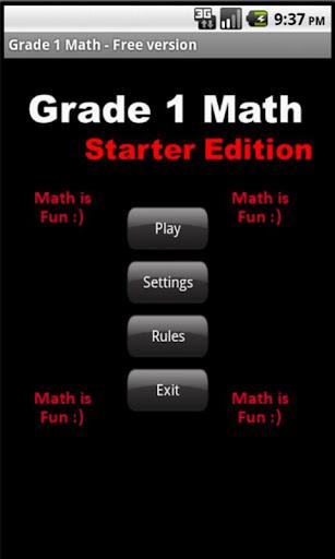 Grade 1 Math - Starter Edition