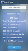 Screenshot of Heart and Body - BMI-WHR-THR