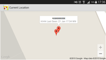 Screenshot of Location Tracker