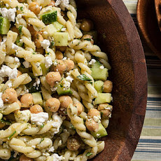 Dill, Chickpea, and Feta Pasta Salad
