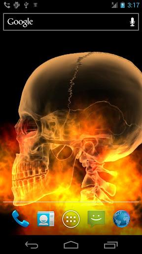 Skull Fire Live Wallpaper Free