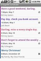 Screenshot of Group SMS Scheduler
