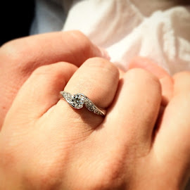 I'm still in awe ☺️☺️☺️☺️ by Julie Dabour - Wedding Other ( iamloved, love, engagement, myman, holdinghands, rings, diamonds, helzbergdiamonds, pretty )