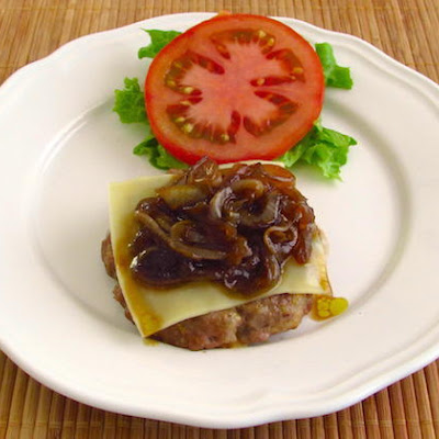 Burger With Caramelized Onion