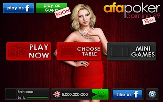 Screenshot of AFA Domino Poker 99