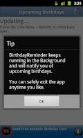 Screenshot of Friends Birthday Reminder