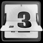 3D Animated Flip Clock WHITE2 icon