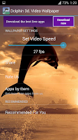 Screenshot of Dolphin 3d. Video Wallpaper