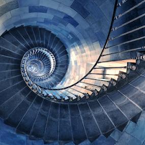 Phare des Baleines by Sebastien Gaborit - Buildings & Architecture Other Interior ( stair phare baleine ré island )