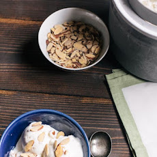 Honey Almond Frozen Yogurt