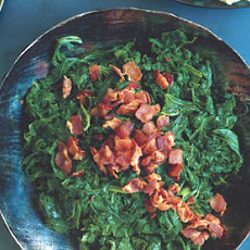Mustard Greens with Chipotle and Bacon