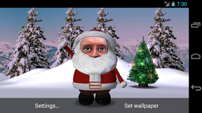 Screenshot of Santa Face Live Wallpaper