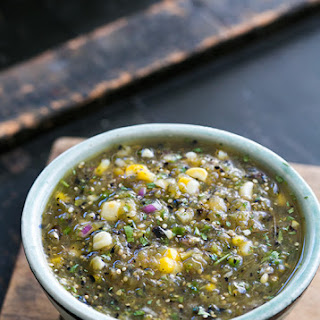 Grilled Tomatillo and Corn Salsa