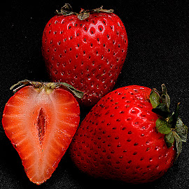 Strawberries by Andrew Piekut - Food & Drink Fruits & Vegetables