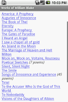 Screenshot of Works of William Blake
