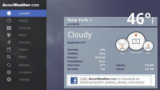 AccuWeather for Sony Google TV