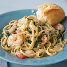 Shrimp Florentine with Caramelized Garlic
